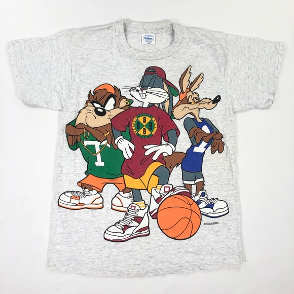 Warner Bros. Other - 1993 Looney Toons BBall Shirt Large Warner Bros
